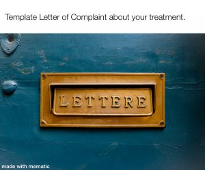 Template Complaint Letter to NHS service provider