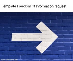 Template Letter Freedom of Information Request